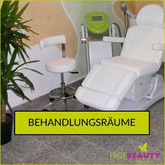 Behandlungsräume im Kosmetikstudio HofBeauty
