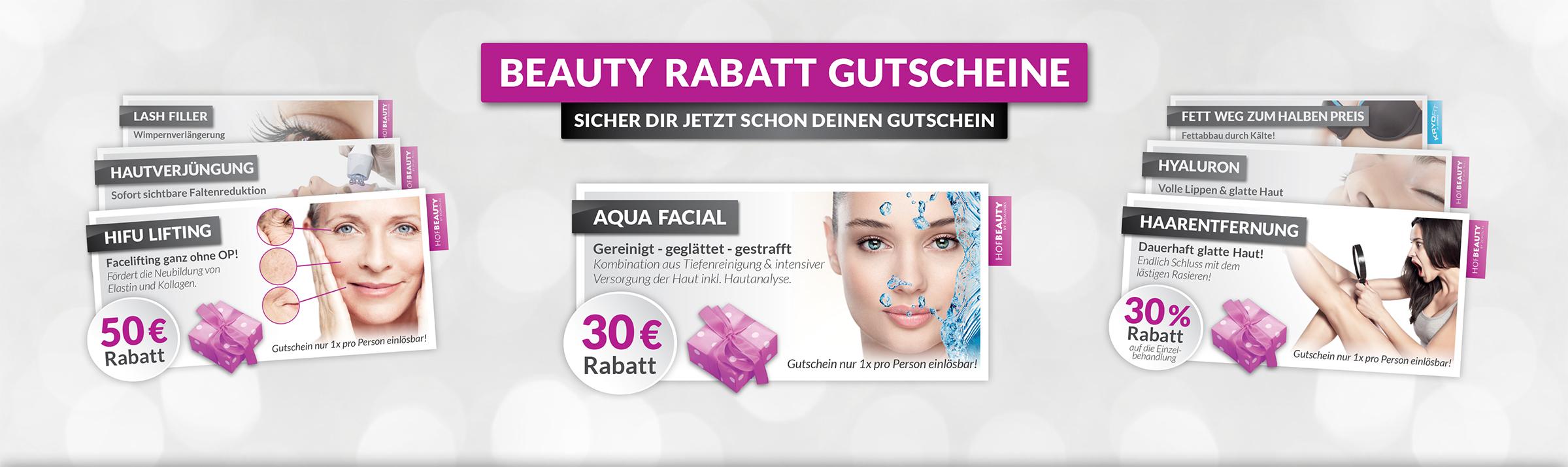 HofBeauty Kosmetikstudio Rabatt Gutscheine