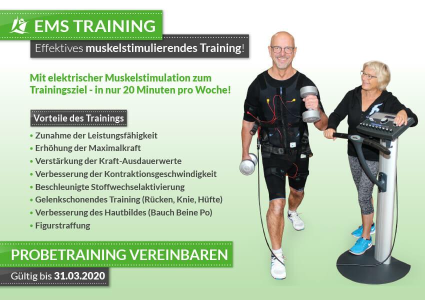 Straffe Arme, schmale Taille und knackiger Po – mit EMS Training!