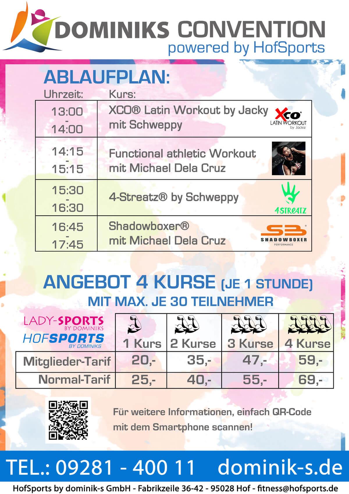Ablaufplan Convention HofSports
