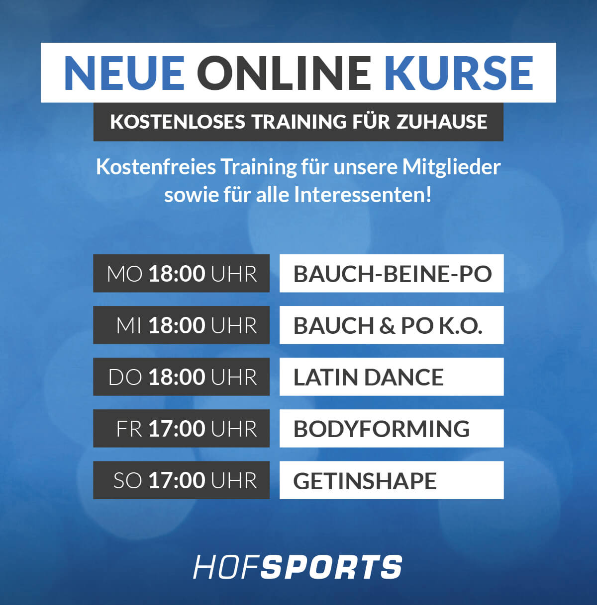 HofSports_Fitnessstudio-Gesundheitsstudio-Zoom Online Kurse
