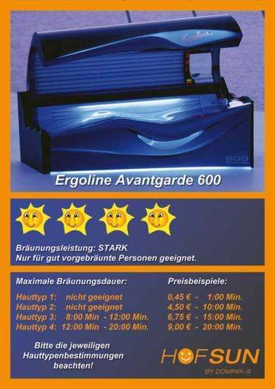 Ergoline Avantgarde 600