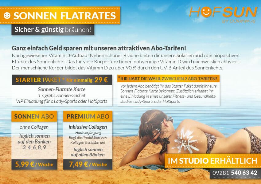 SONNEN FLATRATES – Abo Tarife
