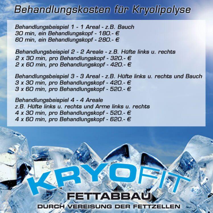 Kryolipolyse Behandlungspreise KryoFit-Studio Hof
