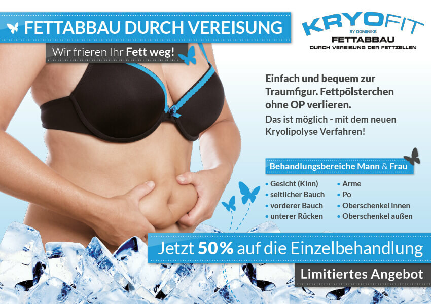 Kryolipolyse – Fett weg durch Kälte!