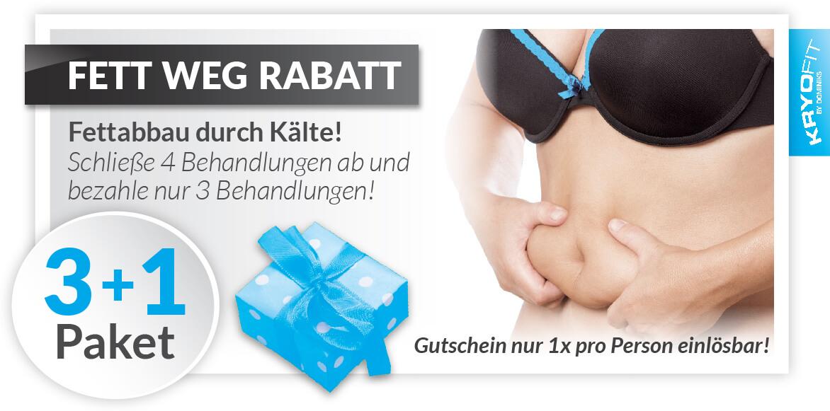 KryoFit Studio Hof - Kryolipolyse Gutschein Rabatt Paket 3+1