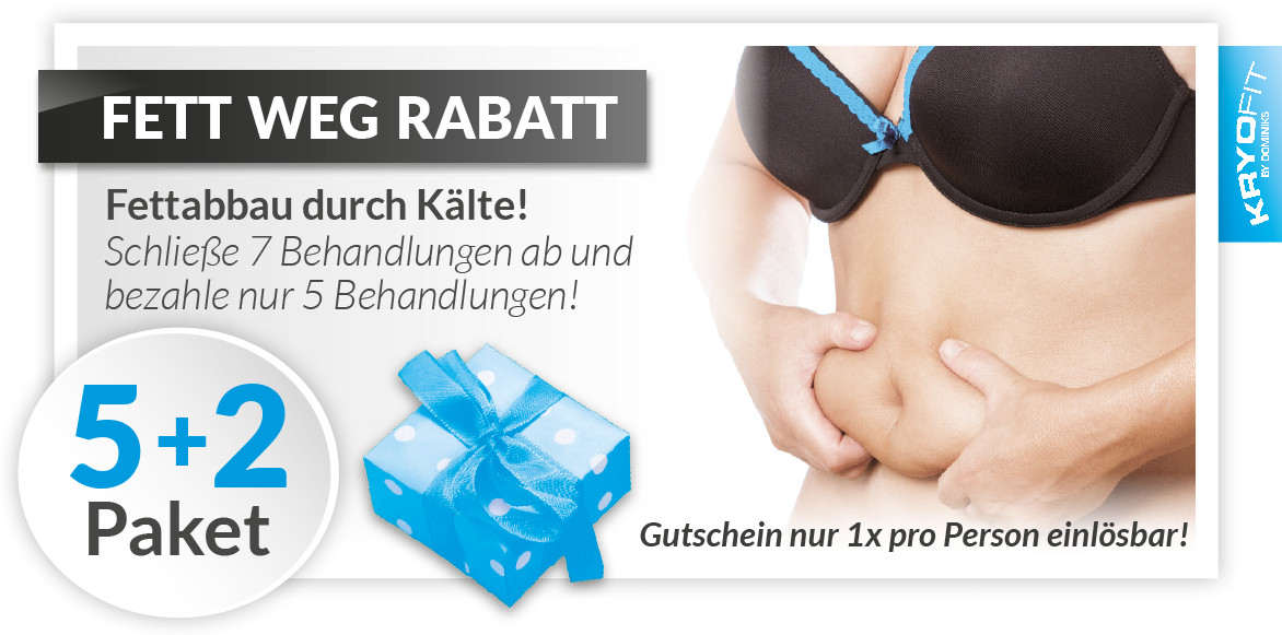 KryoFit Studio Hof - Kryolipolyse Gutschein Rabatt Paket 5+2