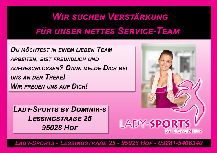 Stellenangebot Servicekraft Lady-Sports