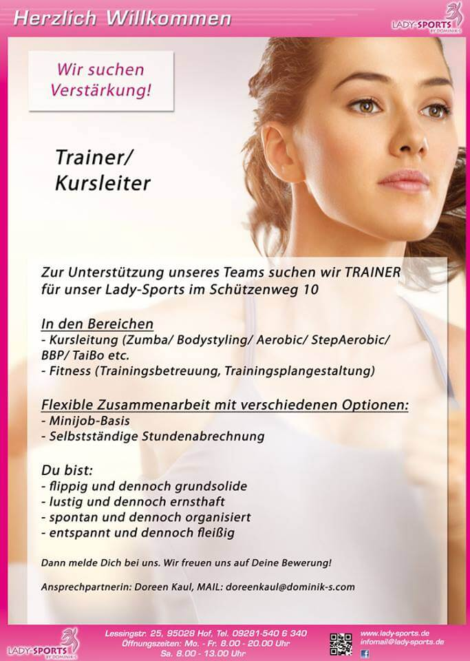 Stellenangebot Trainer/Kursleiter Lady-Sports
