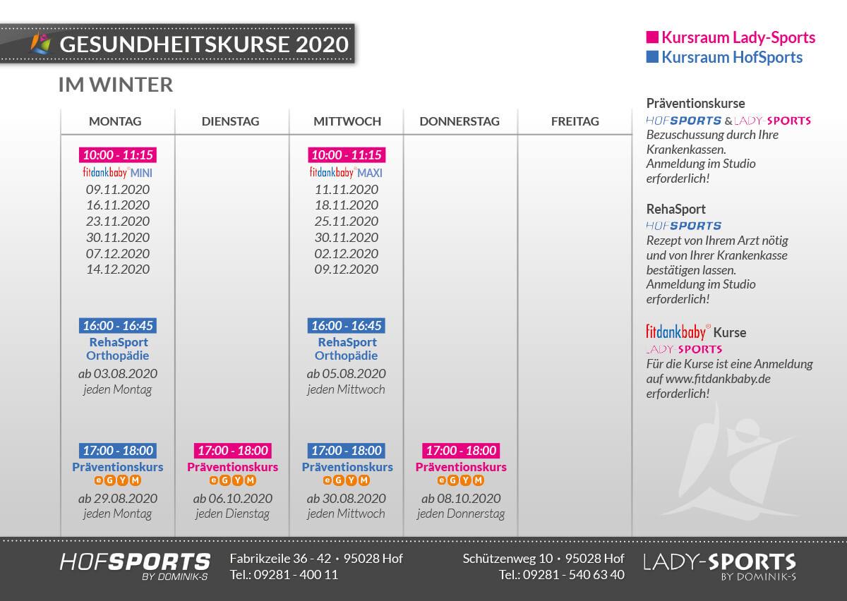 </p> <h2><strong>Gesundheitskurse 2020 Winter</strong></h2> <p>