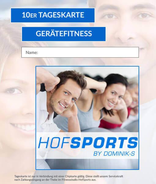 10er Tageskarte Fitness HofSports