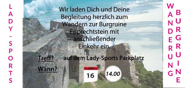 Wanderung zur Burgruine Epprechtstein