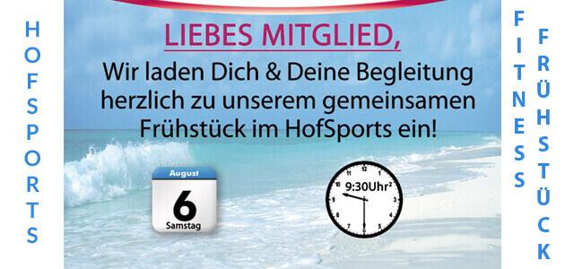 Fitness Frühstück im HofSports