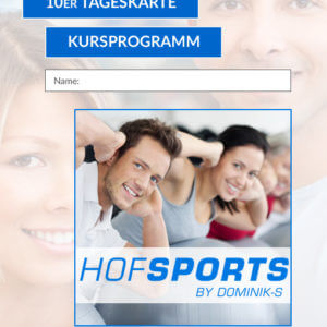 10er Tageskarte Kursprogramm HofSports