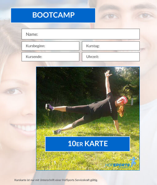 10er kurskarte bootcamp dominiks fitness wellness gesundheit in hof. Black Bedroom Furniture Sets. Home Design Ideas
