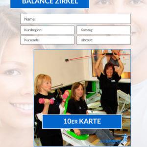 10er Karte Balance-Zirkel Fitnesskurs HofSports