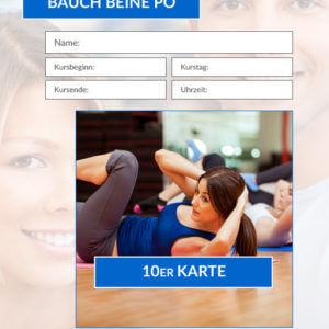 10er Karte BBP-Fitnesskurs HofSports