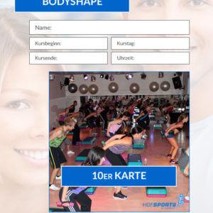 10er Karte BodyShape Fitnesskurs HofSports