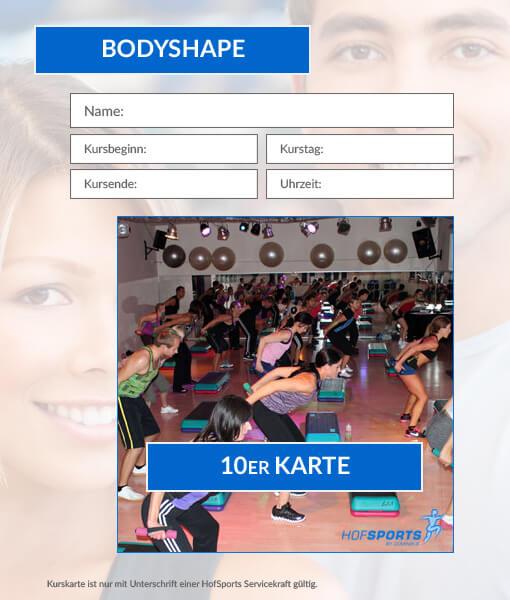 10er kurskarte bodyshape dominiks fitness wellness gesundheit in hof. Black Bedroom Furniture Sets. Home Design Ideas