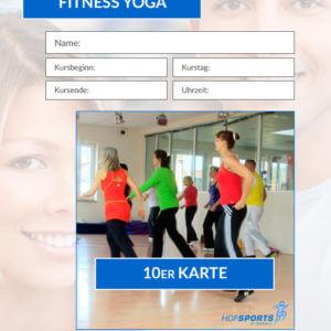 10er Karte FitnessYoga-Gymnastikkurs HofSports