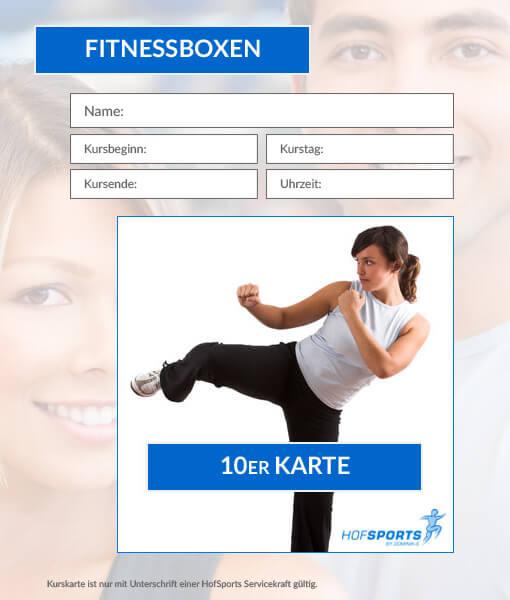 10er Karte Fitnessboxen Workout HofSports