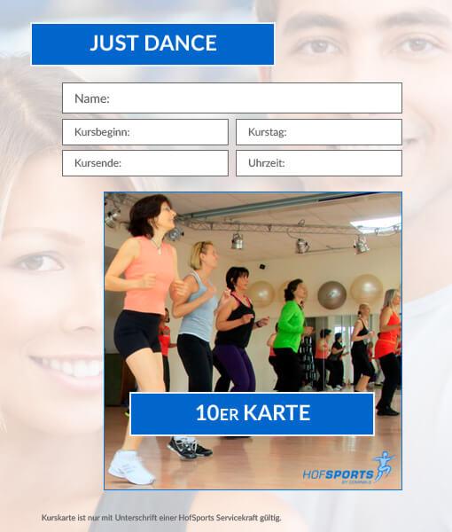 10er Kurskarte Just Dance HofSports