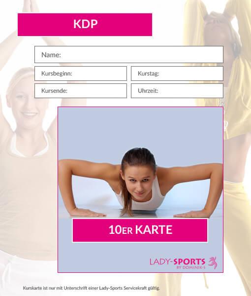 10er Kurskarte KDP Lady-Sports