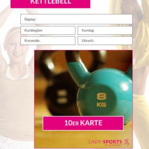 10er Kurskarte Kettlebell Workout Lady-Sports