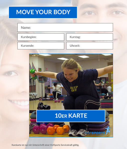10er Karte Move your Body HofSports
