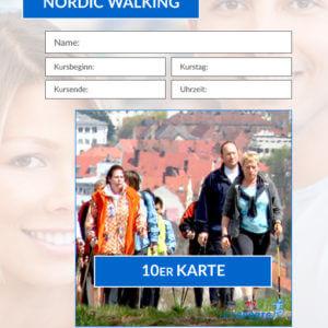 10er Karte Nordic Walking Fitnesskurs HofSports