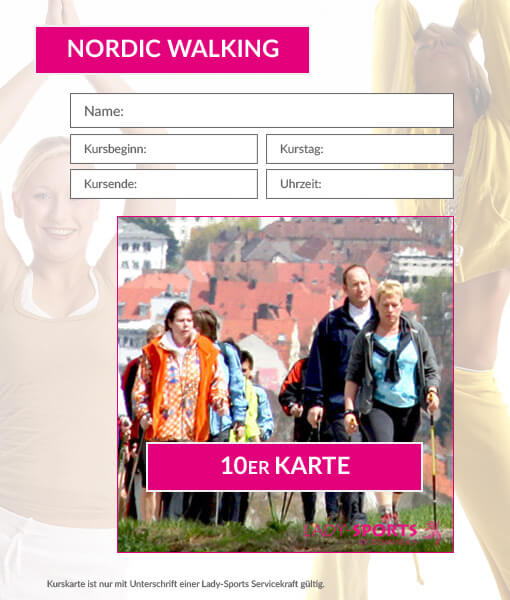 10er Karte Nordic Walking Lady-Sports
