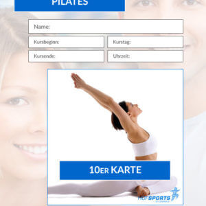 10er Karte Pilates-Fitnesskurs HofSports