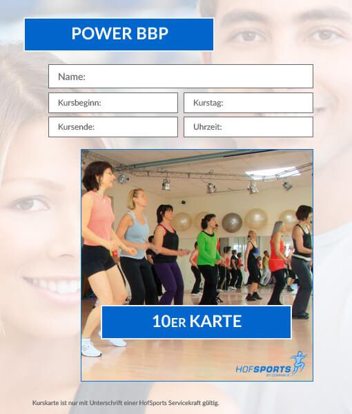 10er Karte Power-BBP Fitnesskurs HofSports