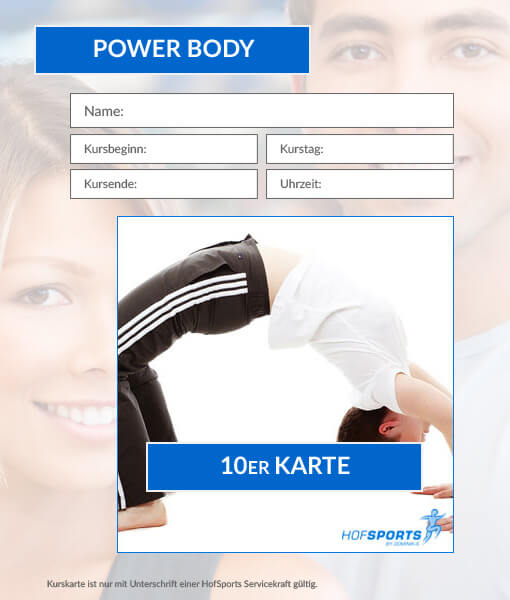 10er Karte Power Body Workout HofSports