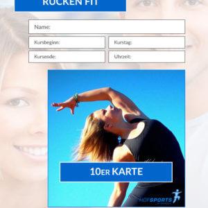 10er Karte RückenFit Fitnesskurs HofSports