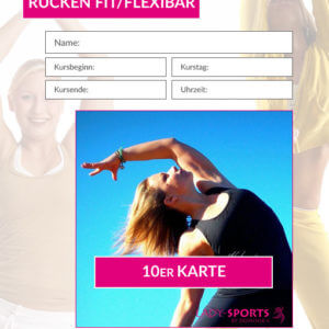 10er Kurskarte RückenFit/Flexibar - Fitnesskurs Lady-Sports
