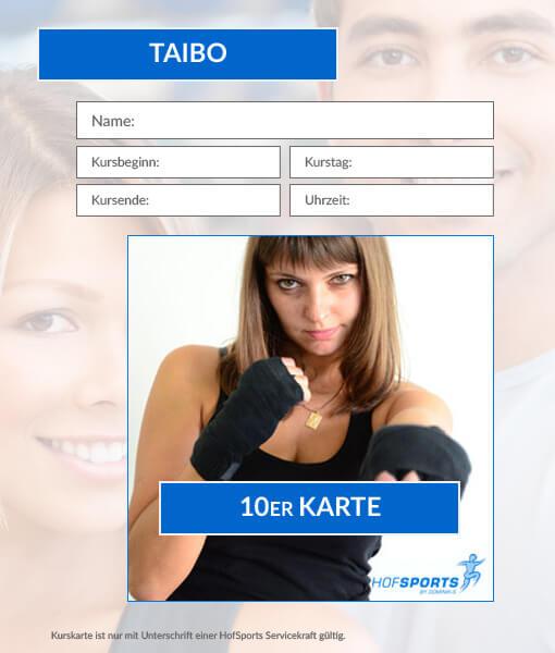 10er Karte TaiBo Fitnesskurs HofSports
