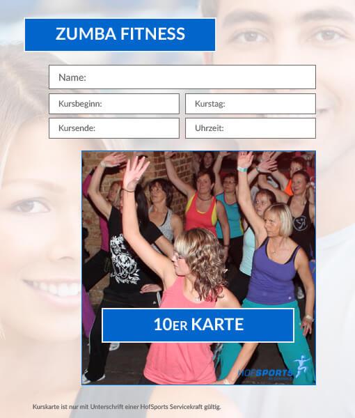 10er Karte ZumbaFitness Workout HofSports