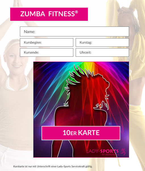 10er Kurskarte Zumba Fitness Lady-Sports
