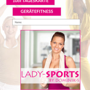 10er Karte Fitness Lady-Sports