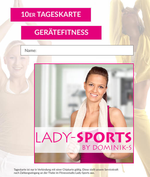 10er tageskarte fitness lady sports dominiks fitness wellness gesundheit in hof. Black Bedroom Furniture Sets. Home Design Ideas