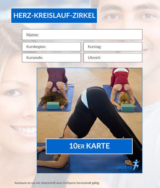 10erKurskarte Fitnesskurs Herz-Kreislauf-Zirkel HofSports