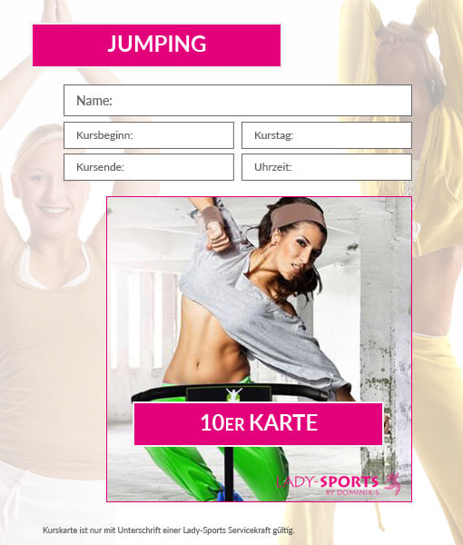10er Kurskarte Jumping Lady-Sports
