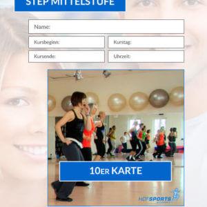 10er Kurskarte Step Mittelstufe Hofsports