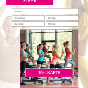 10er Kurskarte Step 2 Lady-Sports