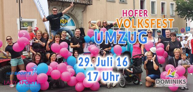 Hofer Volksfestumzug 2016