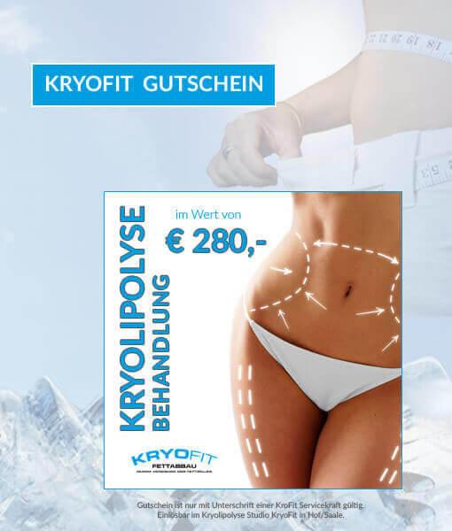 Gutschein Kryolipolyse-Behandlung 280 Euro