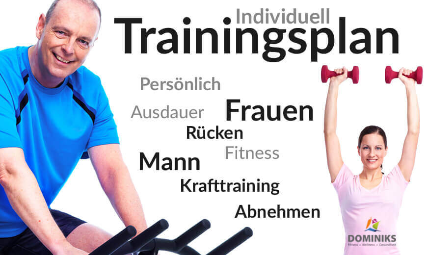 Individueller Trainingsplan Fitnessstudios