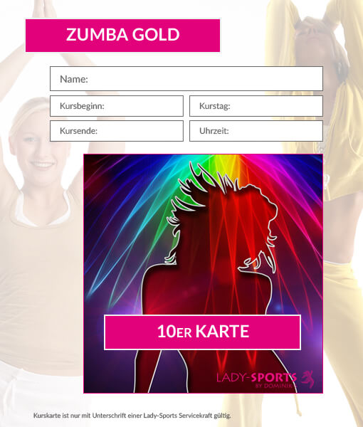 10er kurskarte zumba gold dominiks fitness wellness gesundheit in hof. Black Bedroom Furniture Sets. Home Design Ideas