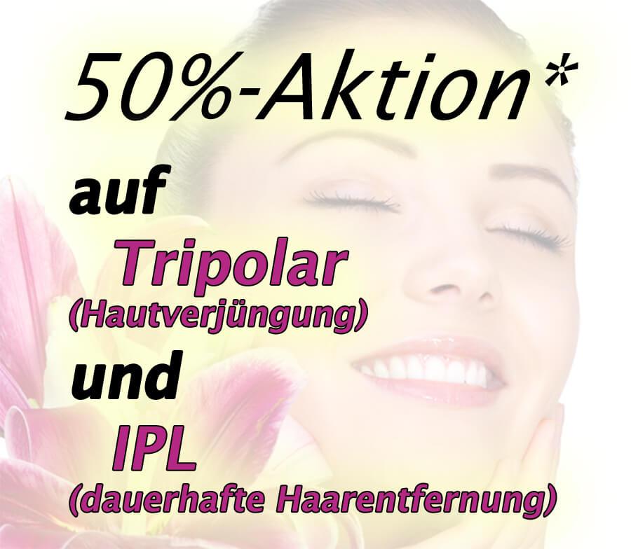 Hof-Beauty-Sommeraktion! 50% auf Tripolar- und IPL-Behandlung!